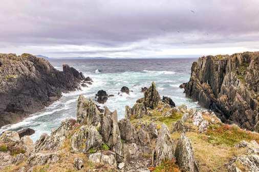 The rugged coastline on Malin Head, Donegal