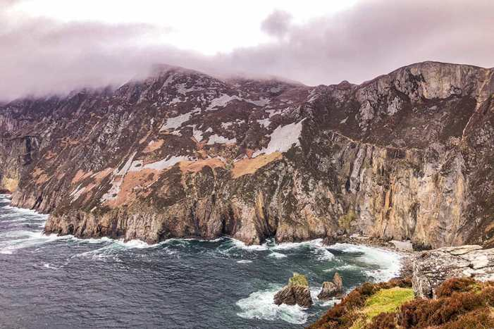 Slieve League are the highest sea cliffs in Ireland