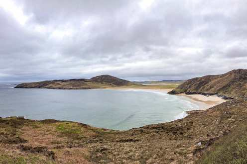 Tranarossan Beach is on the Wild Atlantic Way in Donegal, Ireland