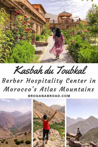 All about exploring the Atlas Mountains near #Marrakech in a sustainable way with Kasbah du Toubkal in Morocco. If you're planning to go trekking in the Atlas Mountains, the village of Imlil is very close to Mount Toubkal and the perfect area for hiking in #Morocco. Read about my experience trekking in the Atlas Mountains #atlasmountains #trekking # hiking