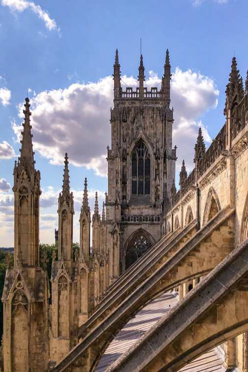 View of the roof and pinnacles of York Minster