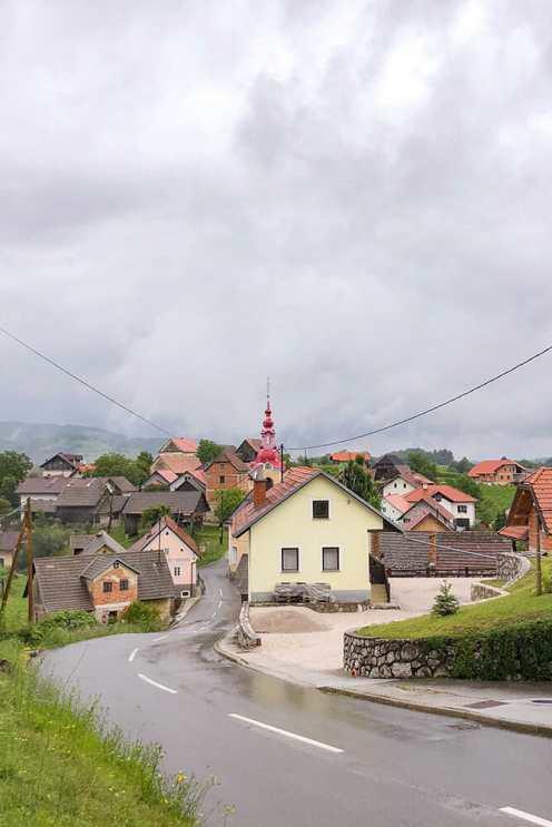 The village of Drasici in Bela Krajina, Slovenia