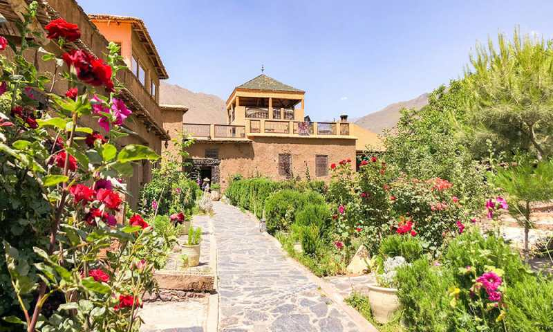 The Kasbah du Toubkal is the perfect base for trekking in the Atlas Mountains