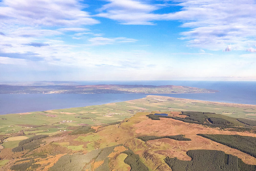 View of County Derry and Donegal from the air