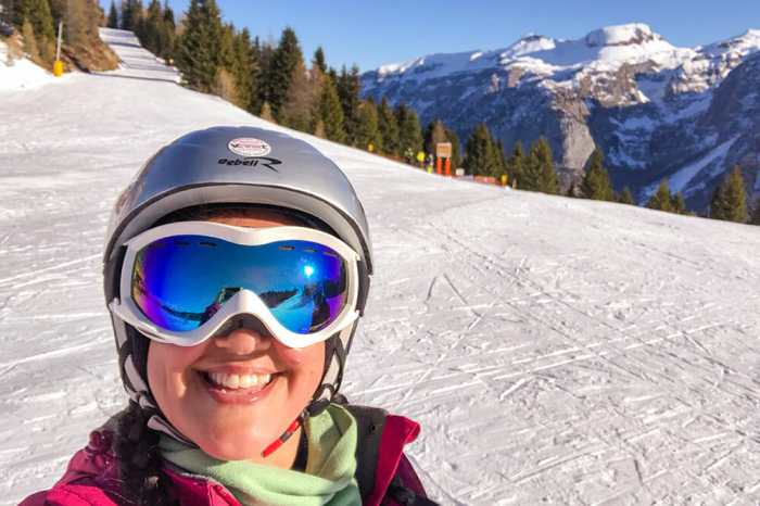 On the slopes in Val di Sole