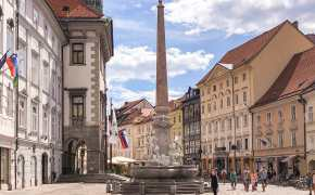 Town Square in Ljubljana will be a starting point for your 2 days in Ljubljana itinerary