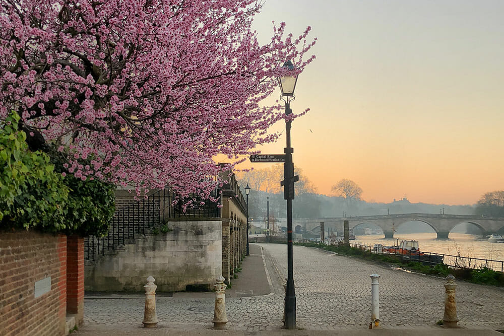 Sunrise in Richmond Riverside