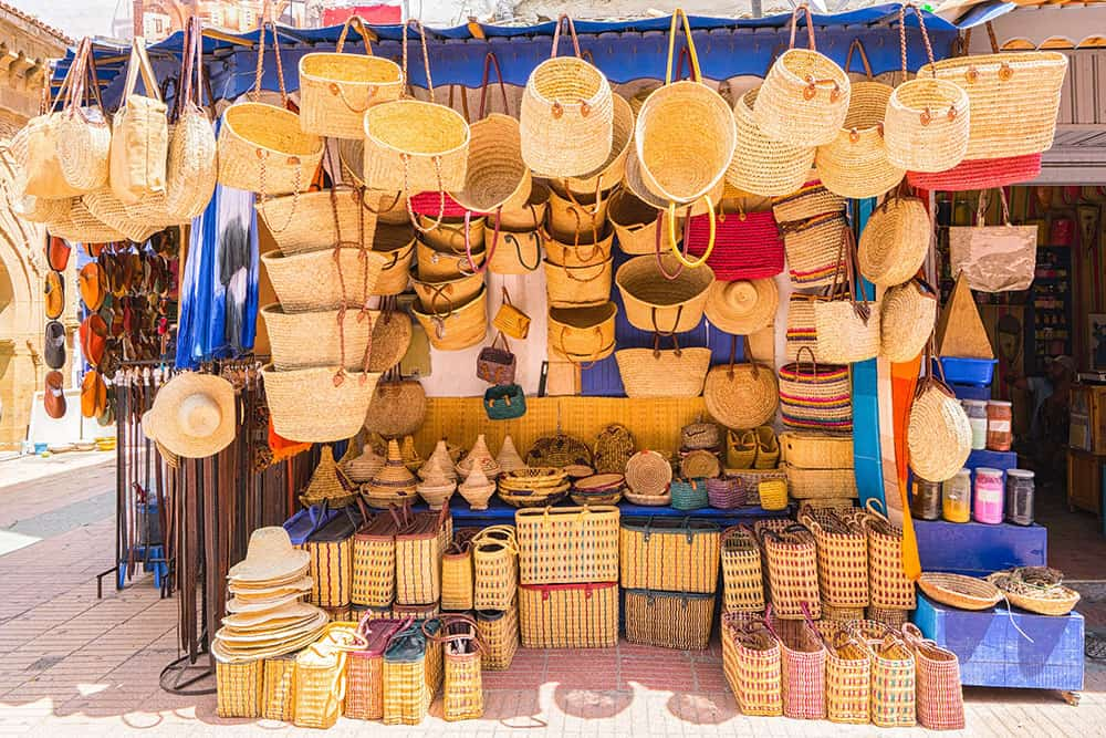 Shopping in Morocco for basket bags