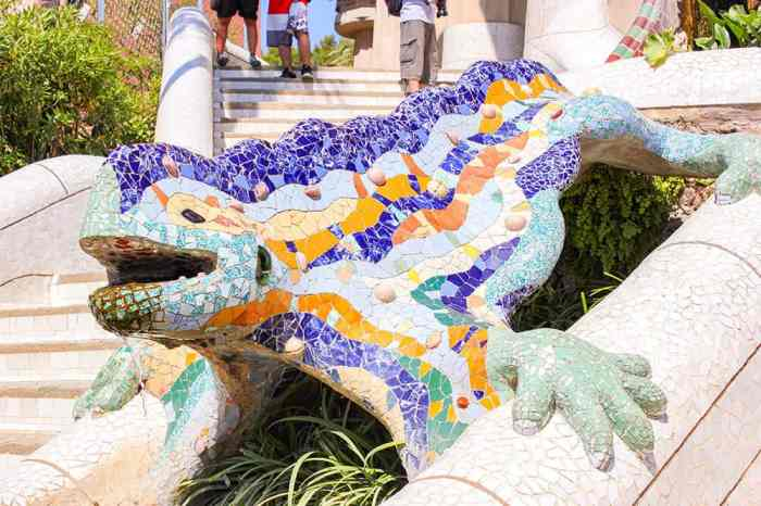 Dragon in Parc Guell, Barcelona