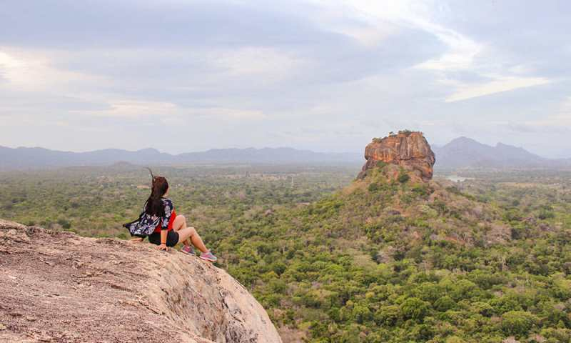 View of Sigiriya, a must stop in any 10 day Sri Lanka itinerary