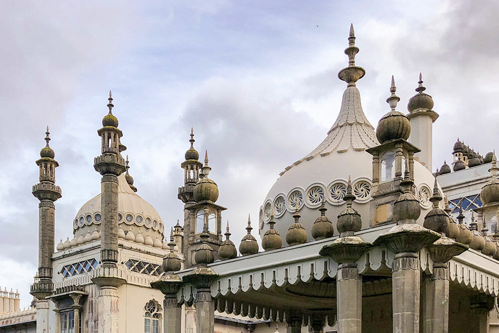 The domes of the Royal Pavilion, first stop on any day trip to Brighton