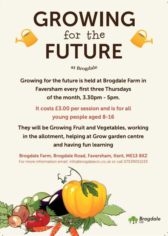 Growing for the Future is a new club in Faversham for 8-13 year olds. Run on the first three Thursdays of the month with Grow at Brogdale. Cost £3