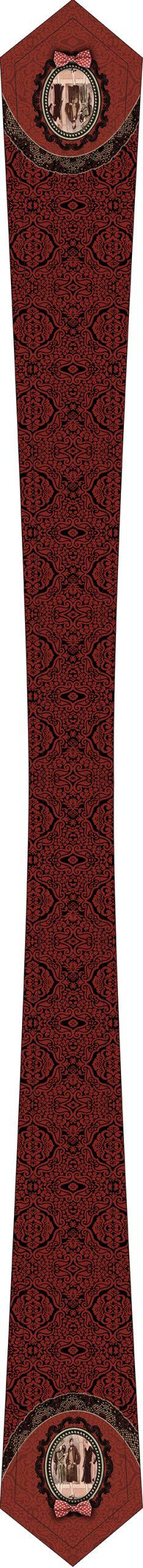 cravate femme noire et rouge