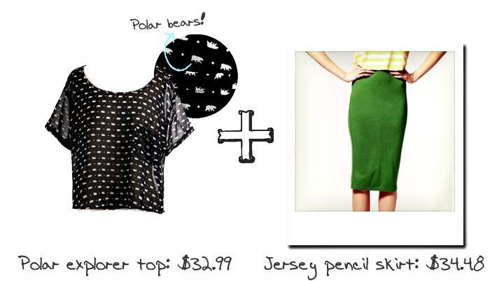 Boxy Tops & Pencil Skirts - Polar Bears and Green Jersey