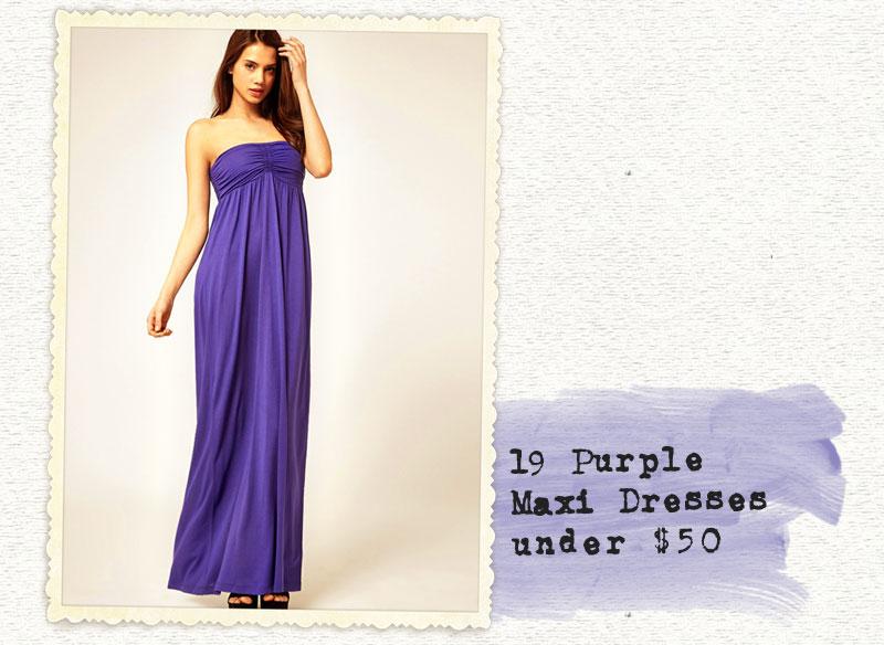 Long Purple Dresses Under 50