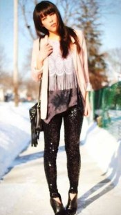 Sequin Leggings Outfit #2