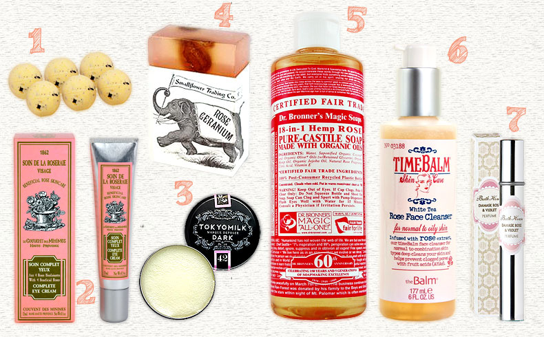Rose-Accented Beauty Products on a budget
