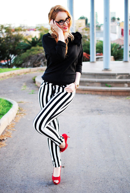 How to wear: Striped Pants