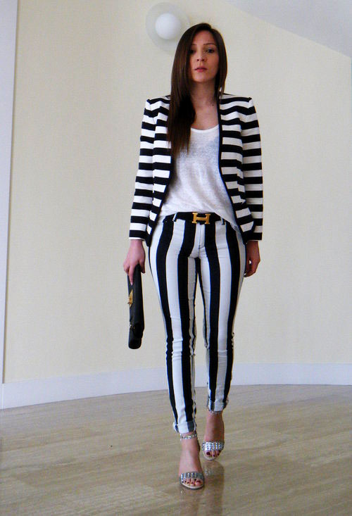 how the internet wears black and white striped pants