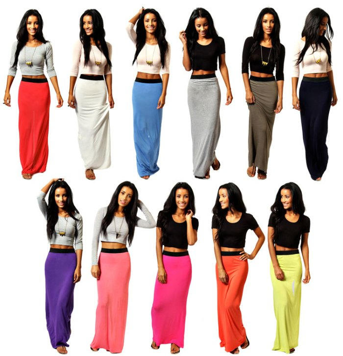 Boohoo Jersey Maxi Skirt