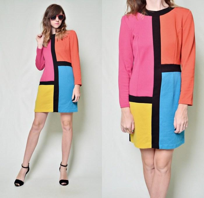 Colorblock Dress w Black Shoes 2