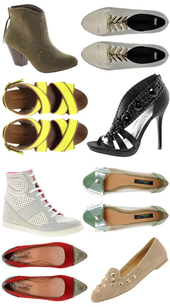 Current Shoe Trends at ASOS Mid-Season Sale
