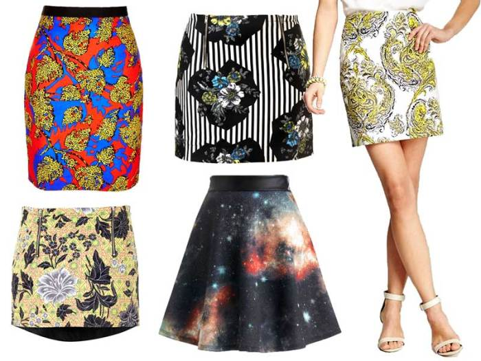 Eye Catching Skirts in Extra Bold Prints