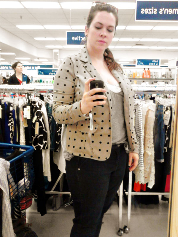 Polka Dot Blazer from Marshalls