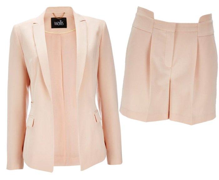 Wallis Pale Pink Short Suit