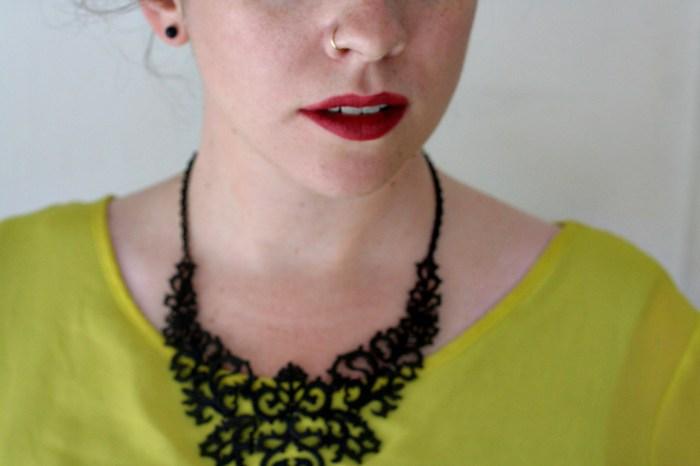 Choies Black Totem Necklace