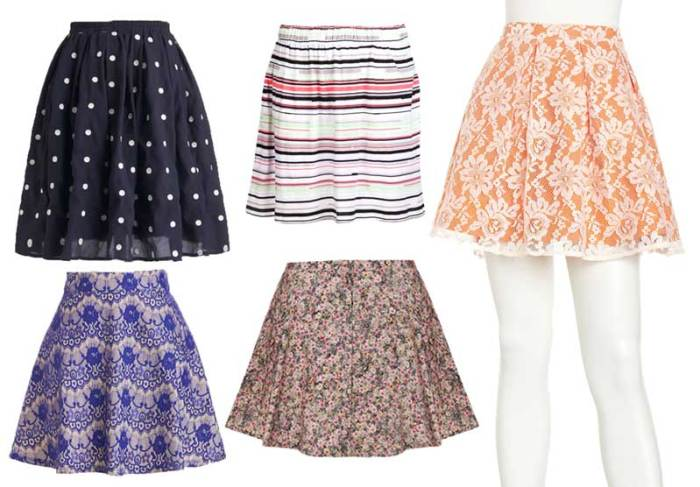 Patterned Short Summer Skirts