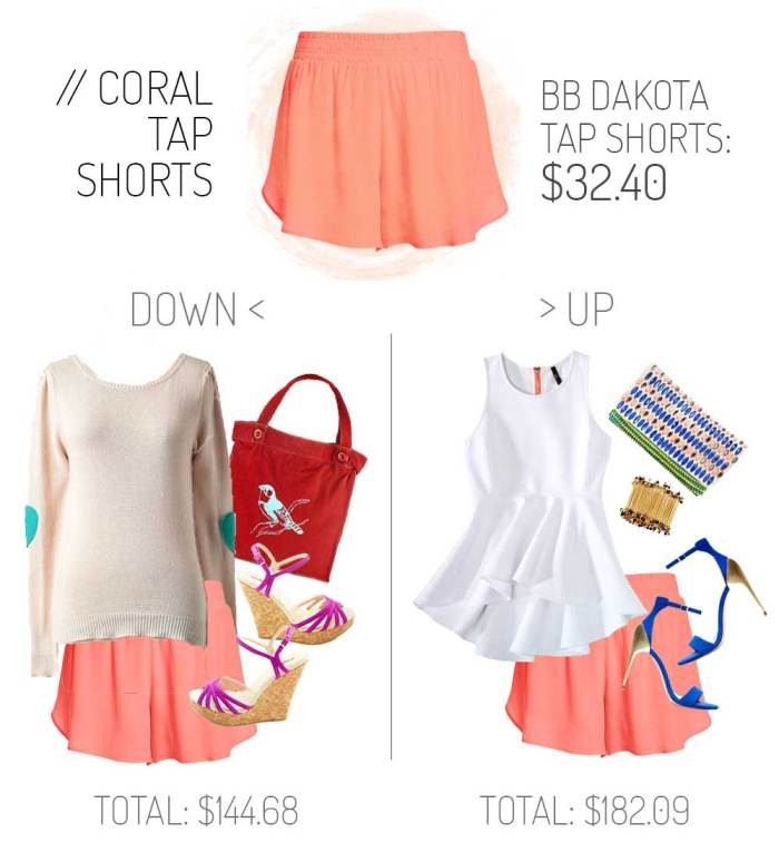 How to dress up dress down tap shorts