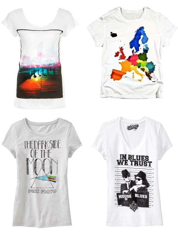 White Graphic T-Shirts
