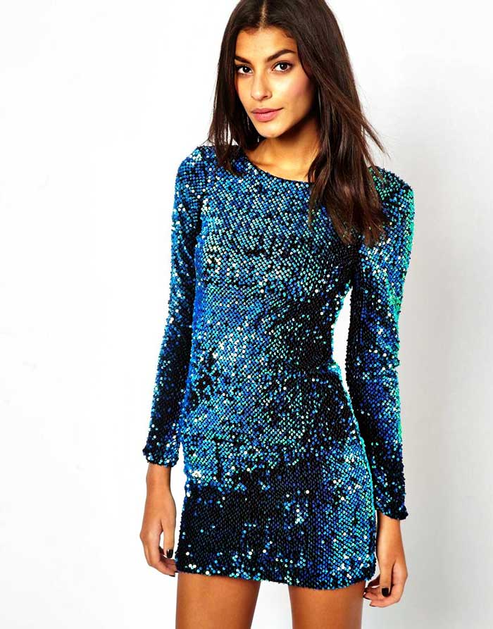 Motel Sequin Mini Dress