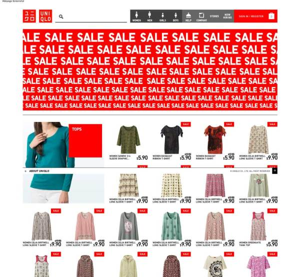 UNIQLO sale