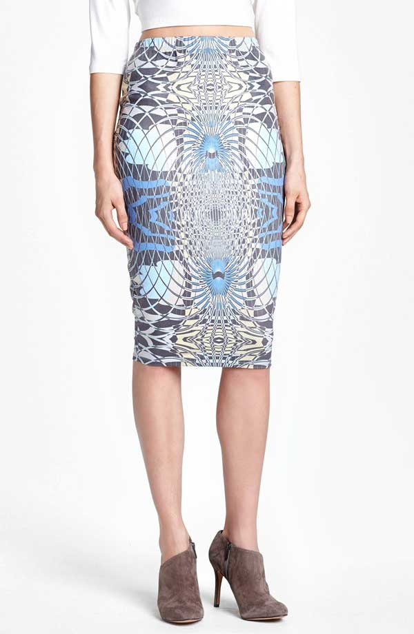 Daily Deal: Leith Patterned Pencil Skirt