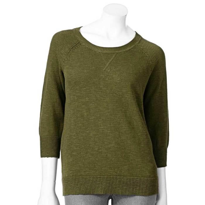 Sonoma Raglan Slub Sweater