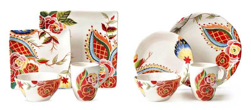Vida by Espana Rose Print Dish Sets