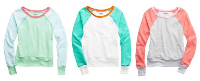 Daily Deal: aerie Raglan Sweatshirt in 3 pastel combos