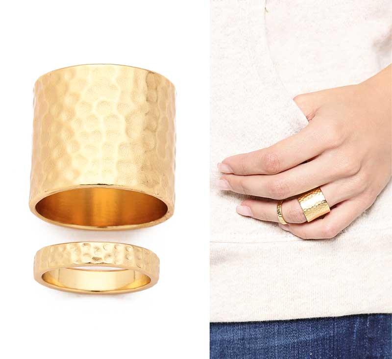 Gorjana Camille Hammered Ring Set