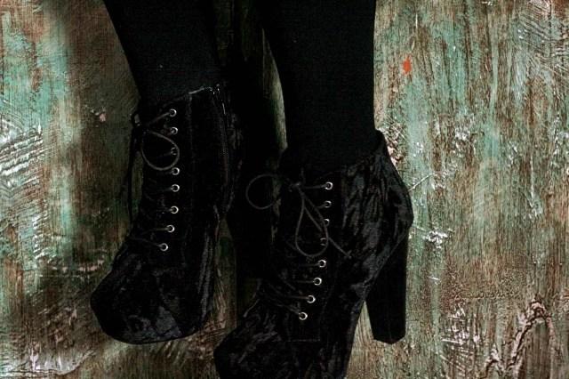 I'm Wearing: Velvet Ankle Boots