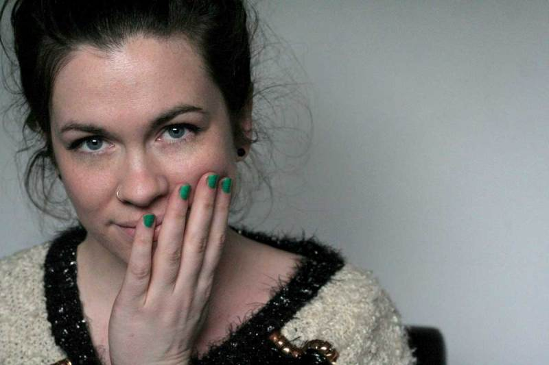 I'm Wearing: boohoo Embellished Sweater & Bright Nails