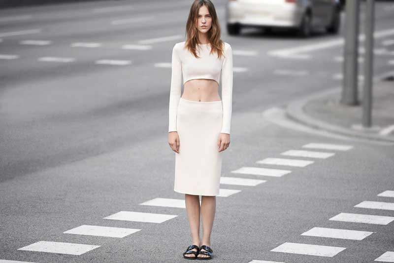 ZARA Woman Lookbook Crop Top