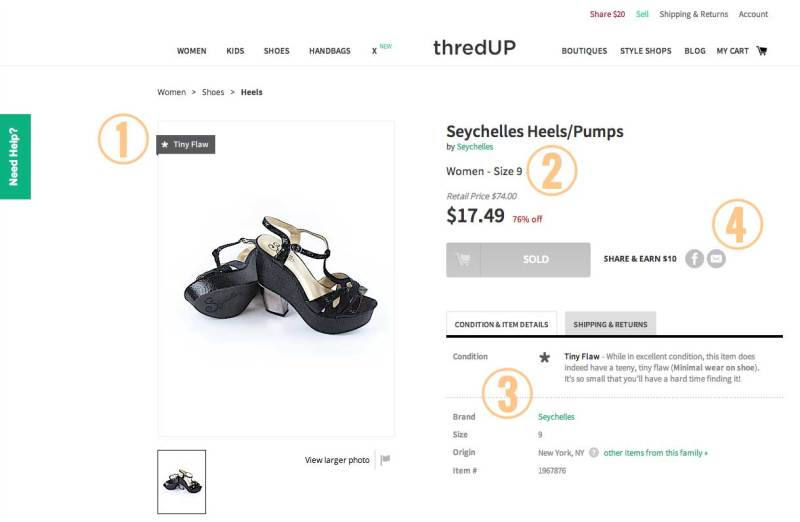 thredUP Product Page - My Favorite Things