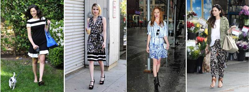 Emmy Rossum, Emma Roberts, Kate Bosworth and Jenna Dewan Tatum in Peter Som x Kohl's