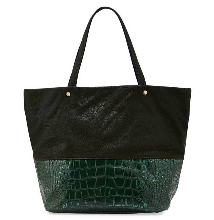 Deux Lux Essex Faux Leather Faux Croc Tote Bag
