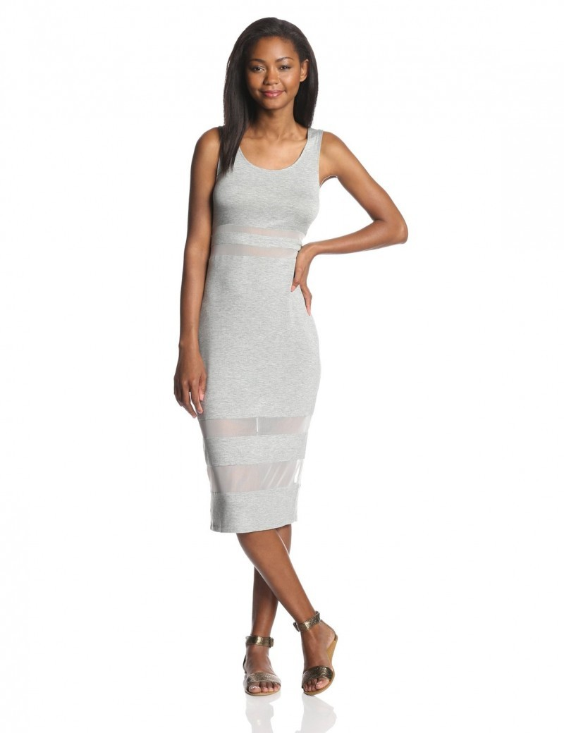 BCBGeneration Sheer Panel Dress