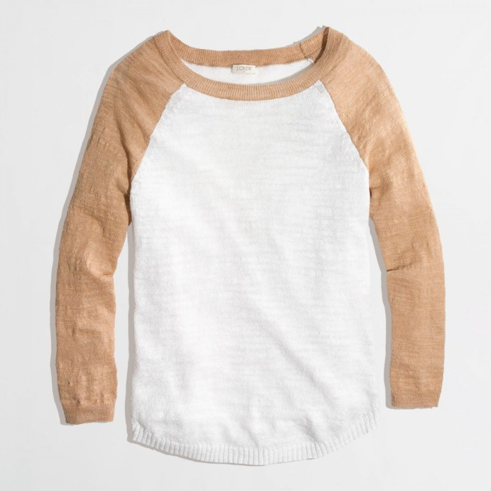 J. Crew Factory Baseball Sweater