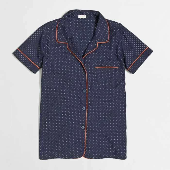 J Crew Factory Pajama Top
