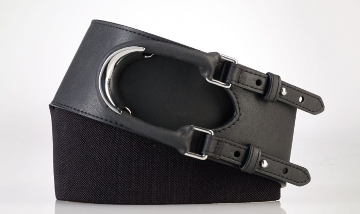 Ralph Lauren Hook Closure Belt Black